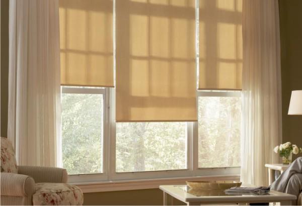 Comfort Blinds Roller Shades Semi Opaque Linen Light