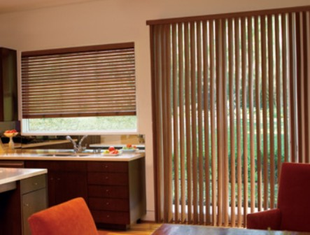 COMFORT BLINDS:Verticals   Faux Wood
